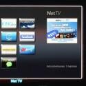 Net TV: Das Philips-eigene Unterhaltungsportal hält zahlreiche Internetdienste bereit. Auf Wunsch blendet der Fernseher das TV-Bild in einem separaten Fenster ein. (Bild: netzwelt)