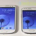 Als Betriebssystem kommt auf dem S3 Mini (rechts) Android 4.1 zum Einsatz. Das Galaxy S3 hat dies erst per Update erhalten. (Bild: netzwelt)