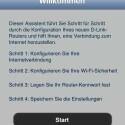 Die App QRS Mobile für iOS und Android ermöglicht die schnelle Router-Einrichtung mit dem Tablet oder Smartphone. (Bild: Screenshot)