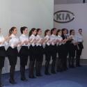 Aufwärmübungen: Letzte Probe vor der Kia-Pressekonferenz. (Bild: netzwelt)