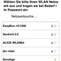 Zur Einrichtung via App wählt man sein Zuhause-WLAN aus und übergibt die Parameter. (Bild: Screenshot)