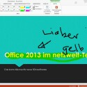 In PowerPoint lassen sich nun direkt handschriftliche Notizen vermerken. (Bild: Screenshot)