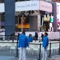 Der Times Square stand für ein paar Stunden ganz im Zeichen von Samsung. (Bild: netzwelt)