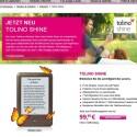 Die deutsche Telekom bietet Nutzern des E-Bookreaders Tolino Shine Speicherplatz in der Cloud. (Bild: Screenshot Telekom)