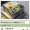 Die Lebensmitteldatenbank von S Health ist bereits recht umfangreich. (Bild: Screenshot)