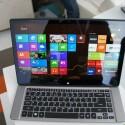 Das R7 im Notebook-Modus. Ungewöhnlich: Das Trackpad (im Bild nicht zu sehen) befindet sich überhalb der Tastatur. (Bild: netzwelt)