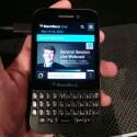 Das Display misst wie beim BlackBerry Q10 3,1 Zoll. (Bild: netzwelt)