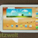 Als Betriebssystem kommt Android 4.1.2 (Jelly Bean) zum Einsatz. Samsung installiert einige zusätzliche Anwendungen (Bild: netzwelt)