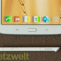 """Neu in der Note-Reihe: Auch die Android-Tasten """"Zurück"""" und """"Menü"""" reagieren nun auf Stifteingaben. Der Home-Button muss aber nach wie vor mit dem Finger gedrückt werden. (Bild: netzwelt)"""