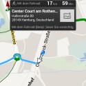 Auf Android-Handys steht auch eine sprachgestützte Navigation für Radfahrer bereit. (Bild: Google)