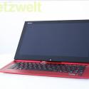 """<b>Sony Vaio Duo 13 Red Edition</b><br /> Gleichzeitig Ultrabook und Tablet-PC mit Windows 8: Für diesen Test wählte netzwelt die besonders edle """"Red Edition"""". (Bild: netzwelt)"""