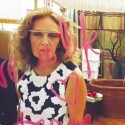 Designerin Diane von Fürstenberg trug die Datenbrille auf der Fashion Week. (Bild: Screenshot YouTube/Project Glass)