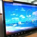 Aufgeräumter Startbildschirm: Browser, die Software eHome Media Center, Explorer, Einstellungen, Zugriff auf App-Übersicht. Android 4.2 ist vorinstalliert. (Bild: netzwelt)