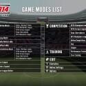 Die Liste zeigt alle Spielmodi im neuen Pro Evo. (Bild: Konami)