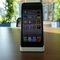 Überraschung: Auch mit dem iPhone 5 arbeitet das Dock zuverlässig. (Bild: netzwelt)