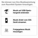Die App steuert die Konfiguration der Musikquelle. (Bild: Screenshot)