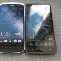 Das Design des HTC Desire 500 (links) erinnert an das des HTC One X (rechts). (Bild: netzwelt)
