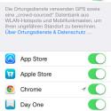 Hier können Sie einzelnen Apps die Ortung verbieten. (Bild: Screenshot)