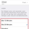 """Die verfügbaren Zeitintervalle, die für den Zeitplan """"Laden"""" verwendet werden, konfigurieren Sie hier. (Bild: Screenshot)"""