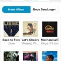 Nach eigenen Angaben bietet Pure Connect 15 Millionen Musiktitel. Neue Alben werden in einer gesonderten Ansicht gelistet. (Bild: Screenshot App)