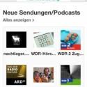 Pure Connect liefert neben Musik auch On-demand-Radioberichte. Diese können Anwender favorisieren. Sie werden dann gespeichert. (Bild: Screenshot App)