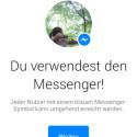 Neues Messenger-Icon zeigt, wer per Direktnachricht erreichbar ist. (Bild: Screenshot)