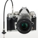 Das Bajonett der Df verfügt über einen ausklappbaren Blendenmitnehmer. Dadruch lassen sich auch Non-AIS-Nikorre an der DSLR einsetzen. (Bild: Nikon)