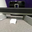Das von netzwelt getestete Sonos-Set zur Mehrraumbeschallung besteht aus dem WLAN-Lautsprecher Play:3, der Soundbar Playbar und dem Subwoofer Sub. Preis: 1.750 Euro.  (Bild: netzwelt)