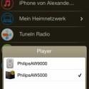 AirStudio+ ist einfacher gestaltet. An der unteren Menüleiste lässt sich das jeweilige Abspielgerät wählen. (Bild: Screenshot)