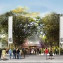 So stellen sich die Architekten den neuen Haupteingang vom Apple Campus 2 vor.