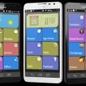 """Huawei bietet Nutzern auf Wunsche eine """"Simple UI"""" genannte Nutzeroberfläche beim Ascend Mate 2 an. Sie erinnert an das Windows Phone. (Bild: Huawei)"""