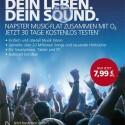 O2-Kunden können den Musik-Streaming-Dienst Napster abonnieren und zahlen für die Flatrate nur 7,99 Euro statt 9,95 Euro. Sie können danach Napster sowohl am PC als auch auf ihrem Smartphone nutzen. (Bild: O2)