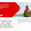 In der Vodafone Cloud gibt es für Kunden je nach Tarif zwischen 5 und 50 Gigabyte kostenlosen Speicherplatz. (Bild: Screenshot Vodafone.de)