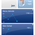 Die My Vitals-App bietet eine Nutzeroberfläche im Kachel-Stil. (Bild: Screenshot My Vitals auf iPhone 4s)