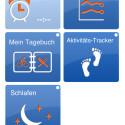 Der Nutzer kann die Kachelansicht nach seinen Wünschen konfigurieren. (Bild: Screenshot: My Vitals auf iPhone 4s)