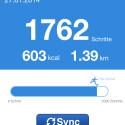 Der Schrittzähler zeigt an, wie viele Schritte Sie am Tag bislang zurückgelegt haben. (Bild: Screenshot My Vitals auf iPhone 4s)