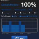 Der Tracker überwacht auf Wunsch auch Ihren Schlaf. (Bild: Screenshot My Vitals auf iPhone 4s)