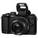 Der Hersteller hat die Kamera mit einem Pop-up-Blitz ausgerüstet. (Bild: Olympus)