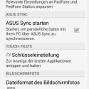 ...kann der Nutzer das Verhalten des Smartphones und der... (Bild: Screenshot Asus The New Padfone)