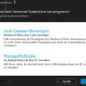 """Auch den Windows 8 Cache kann die Software bereinigen. Zusätzlich verwalten Sie Ihr Android-Smartphone mit den Tools der Software. Mit """"Weiter >"""" fahren Sie fort. (Bild: Screenshot)"""