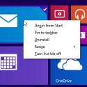 Ein Rechtsklick auf die Kacheln öffnet künftig ein Kontextmenü mit zentralen Optionen. (Bild: Microsoft)