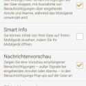 Auch eingehende Benachrichtigungen lassen sich über die App konfigurieren. (Bild: Screenshot Gear Fit Manager)