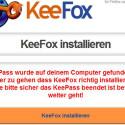 KeePass und KeeFox sind jetzt verbunden. Besuchen Sie eine Seite mit Anmeldung, hier beispielsweise Pinterest, und registrieren Sie sich neu oder geben Sie vorhandene Login-Daten ein. Prompt poppt oben eine graue KeeFox-Leiste auf und fragt, ob die neuen Daten gespeichert werden sollen - bejahen Sie dies. (Bild: Screenshot KeeFox)