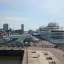 Hamburger Hafen bei Sonnenschein, gemacht mit Smartphone-Nummer 2. (Bild: netzwelt)