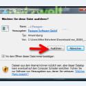 Bestätigen Sie die Sicherheitswarnung von Windows. (Bild: Screenshot)