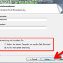 """Geben Sie an, ob Sie Paragon Backup & Recovery 2014 Free für alle Nutzer des Computers oder nur für den aktuell angemeldeten Benutzer installieren möchten. Mit """"Weiter >"""" fahren Sie fort. (Bild: Screenshot)"""
