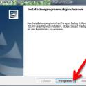 """Nach der Installation klicken Sie auf """"Fertigstellen"""" und beenden damit den Installationsassistenten. (Bild: Screenshot)"""
