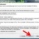 """Setzen Sie das Häkchen vor """"Ich akzeptiere das Lizenzabkommen"""", um den Nutzungsbedingungen der Software zuzustimmen und klicken Sie auf """"Weiter >"""". (Bild: Screenshot)"""