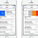 Die Mail-App erhält neue Funktionen zum schnelleren Bearbeiten. (Bild: Apple)