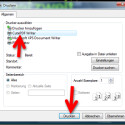 """Wählen Sie im Druckendialog von Windows den virtuellen Drucker """"CutePDF Writer"""" aus, indem Sie diesen anklicken. Weitere Einstellungen sind nicht erforderlich, sodass Sie anschließend auf den Button """"Drucken"""" klicken. (Bild: Screenshot)"""